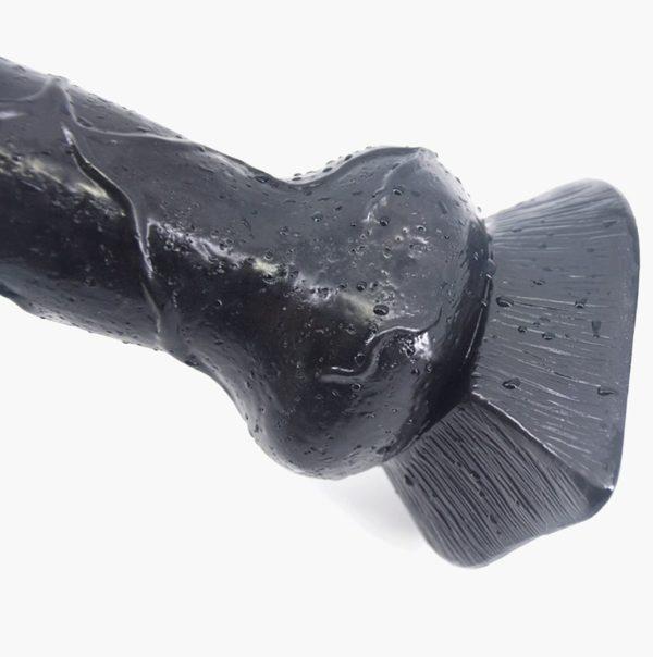 "Romi Animal Penis 7.3"" Realistic Wolf Dildo Big Size Cock Anal Plugs Artificial Sex Toys Black"