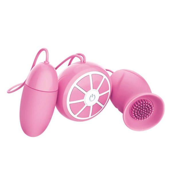 Heartley Bud Tickler Clitoral Vibrator Egg Combo