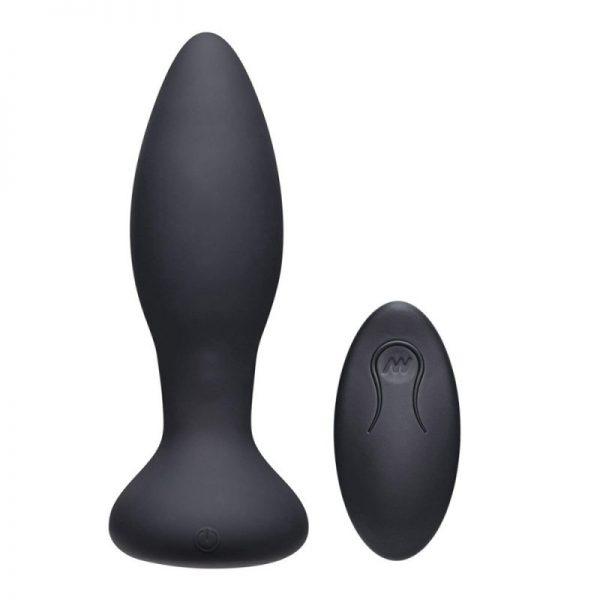 Adventurous Thrust Remote Clit Vibe & Butt Plug Black